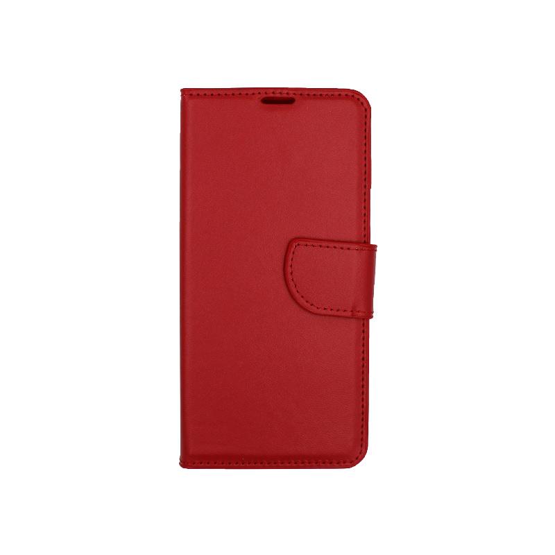 Θήκη Samsung Galaxy S10 Plus πορτοφόλι κόκκινο 1
