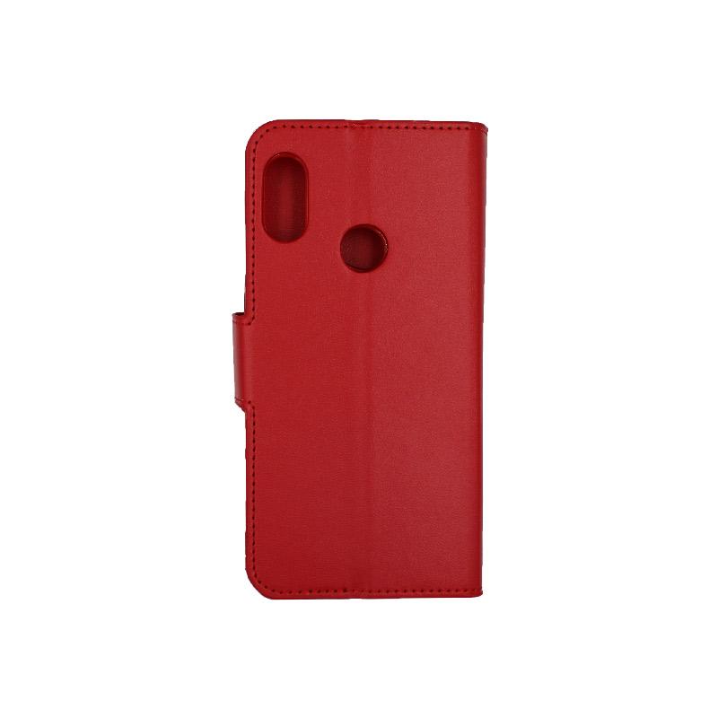 Θήκη Xiaomi A2 Lite Redmi 6X / A2 / Redmi 6 Pro πορτοφόλι κόκκινο 2