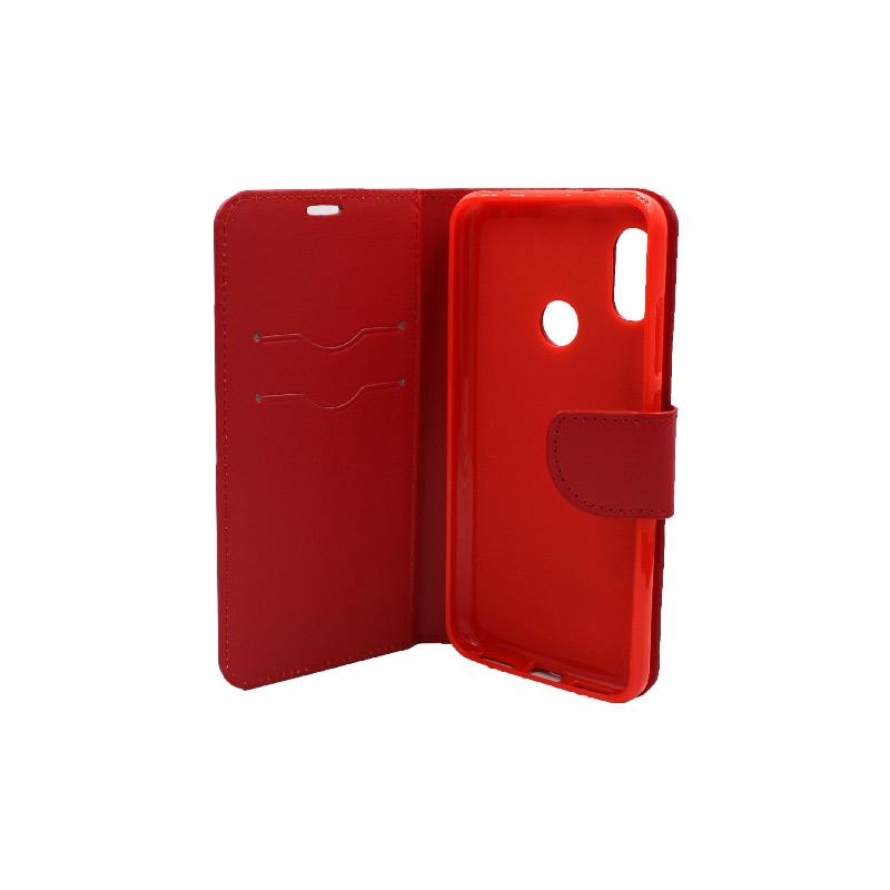 Θήκη Xiaomi A2 Lite Redmi 6X / A2 / Redmi 6 Pro πορτοφόλι κόκκινο 3
