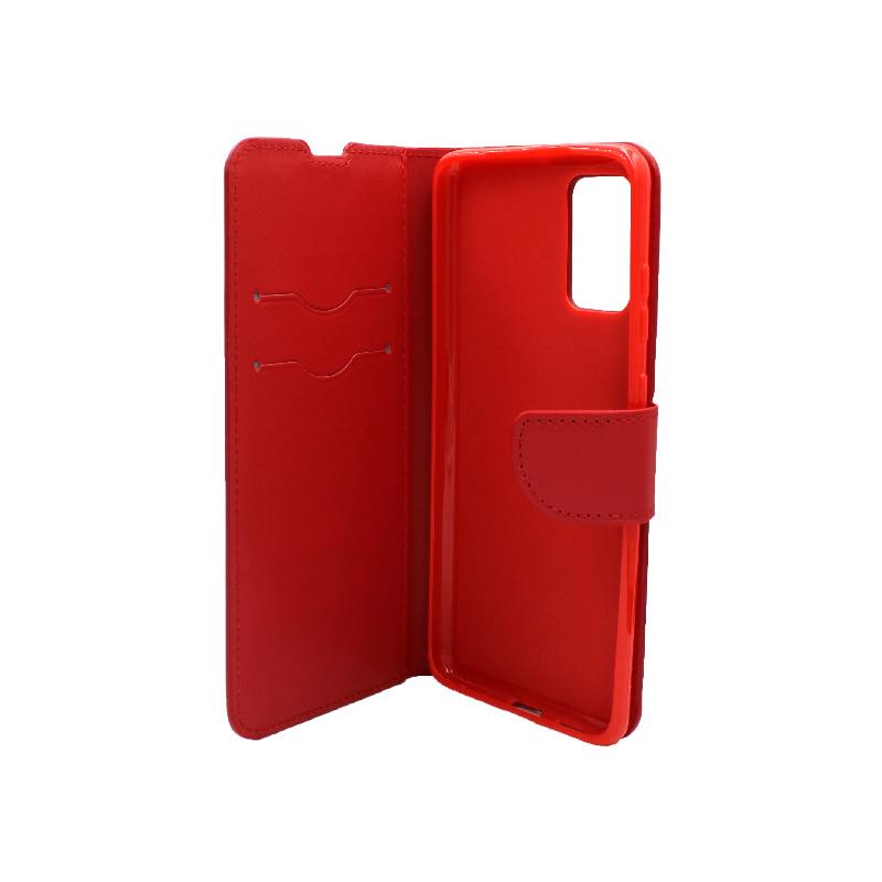 Θήκη Samsung Galaxy S20 Plus πορτοφόλι κόκκινο 3