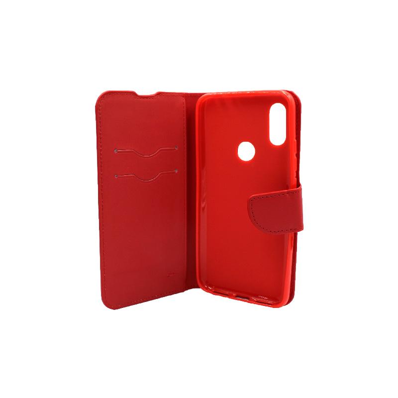 Θήκη Xiaomi Redmi 7 πορτοφόλι κόκκινο 3