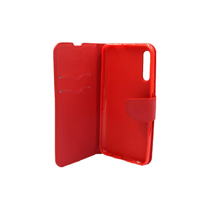 Θήκη Huawei P Smart Pro πορτοφόλι κόκκινο 3