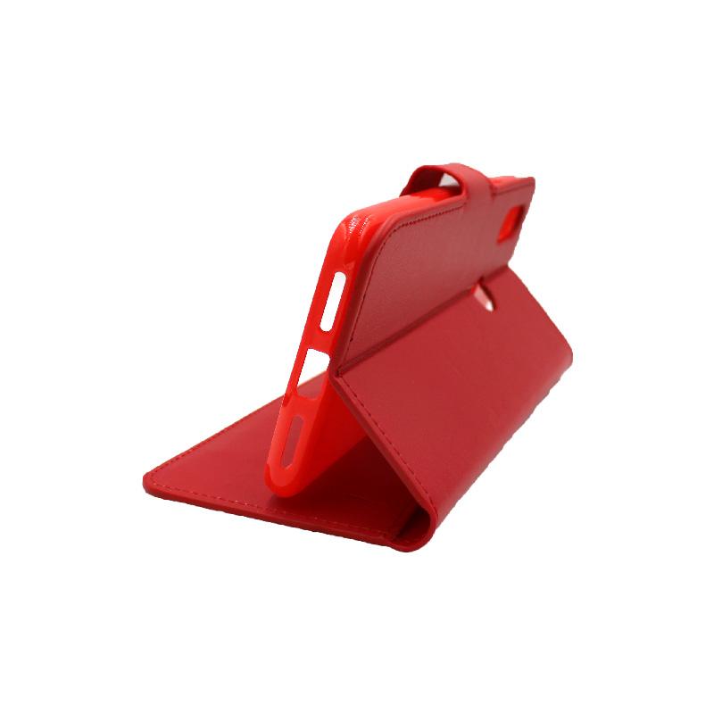 Θήκη Xiaomi Redmi 7 πορτοφόλι κόκκινο 4
