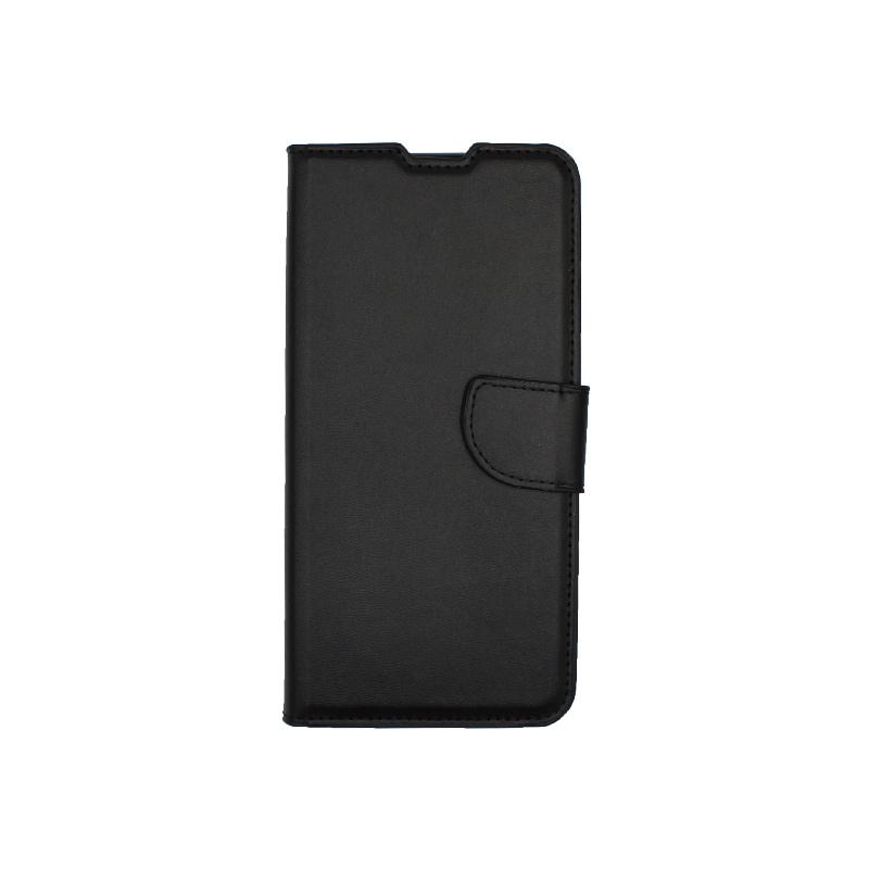 Θήκη Huawei P40 Lite E πορτοφόλι μαύρο 1