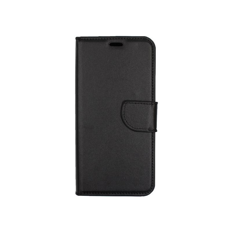 θήκη xiaomi Mi 8 Lite πορτοφόλι με κράτημα μαύρο1