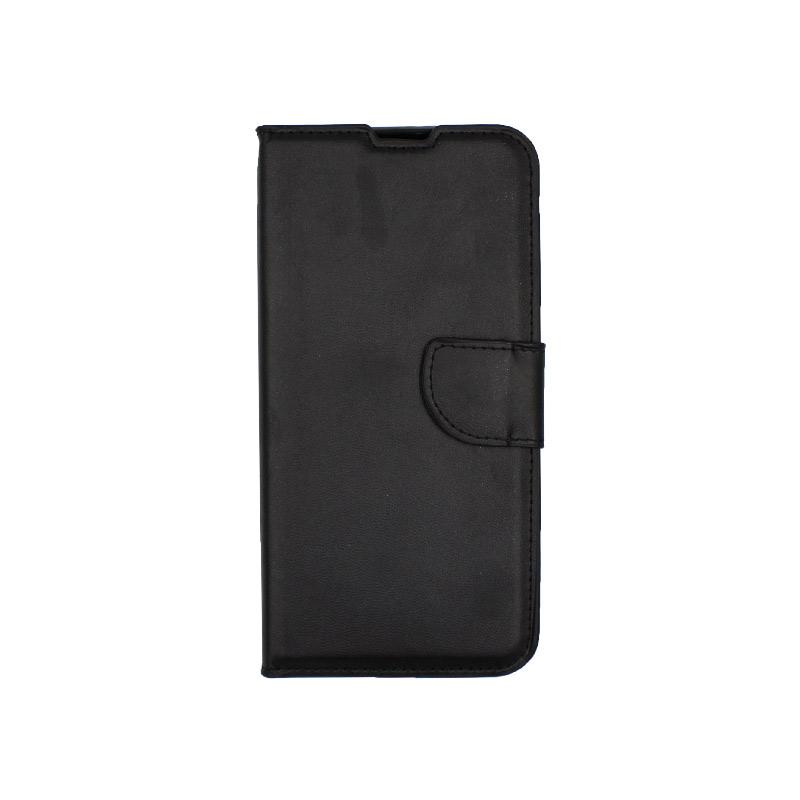 Θήκη Huawei Y6 2019 πορτοφόλι μαύρο 1