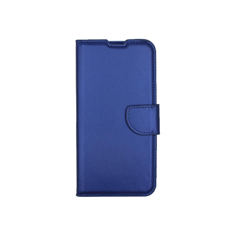 Θήκη Huawei Y6 2019 πορτοφόλι μπλε 1