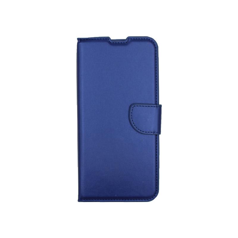 Θήκη Xiaomi Redmi Note 9 πορτοφόλι μπλε 1