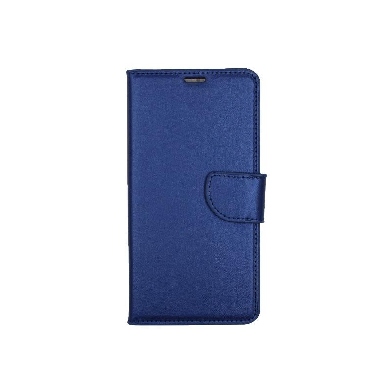 θήκη Xiaomi Mi 8 πορτοφόλι με κράτημα μπλε1