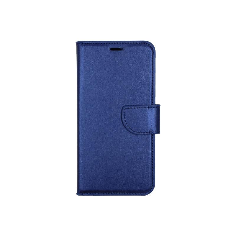 θήκη Xiaomi Pocophone F1 πορτοφόλι με κράτημα μπλε 1