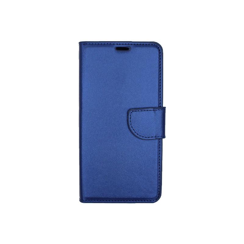 Θήκη Honor 9 Lite πορτοφόλι μπλε 1