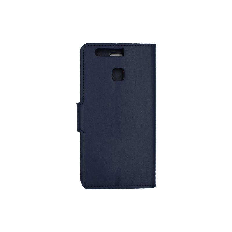Θήκη Huawei P9 πορτοφόλι σκούρο μπλε 2