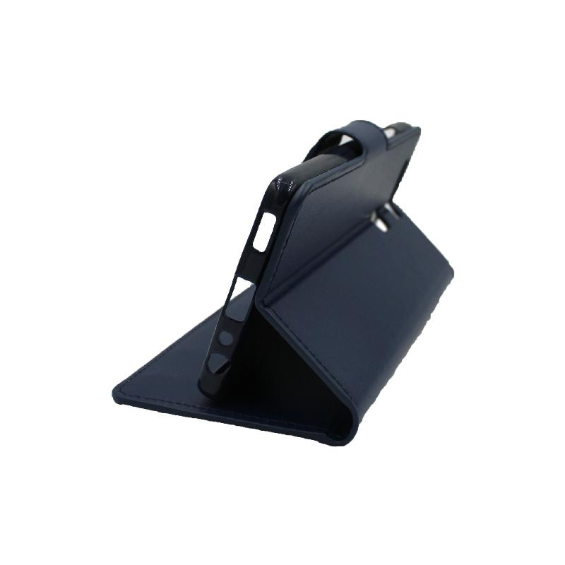 Θήκη Huawei P9 πορτοφόλι σκούρο μπλε 4