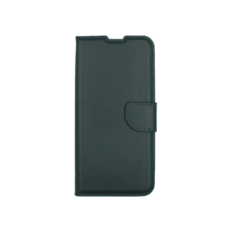 Θήκη Xiaomi Redmi Note 9 πορτοφόλι πράσινο 1