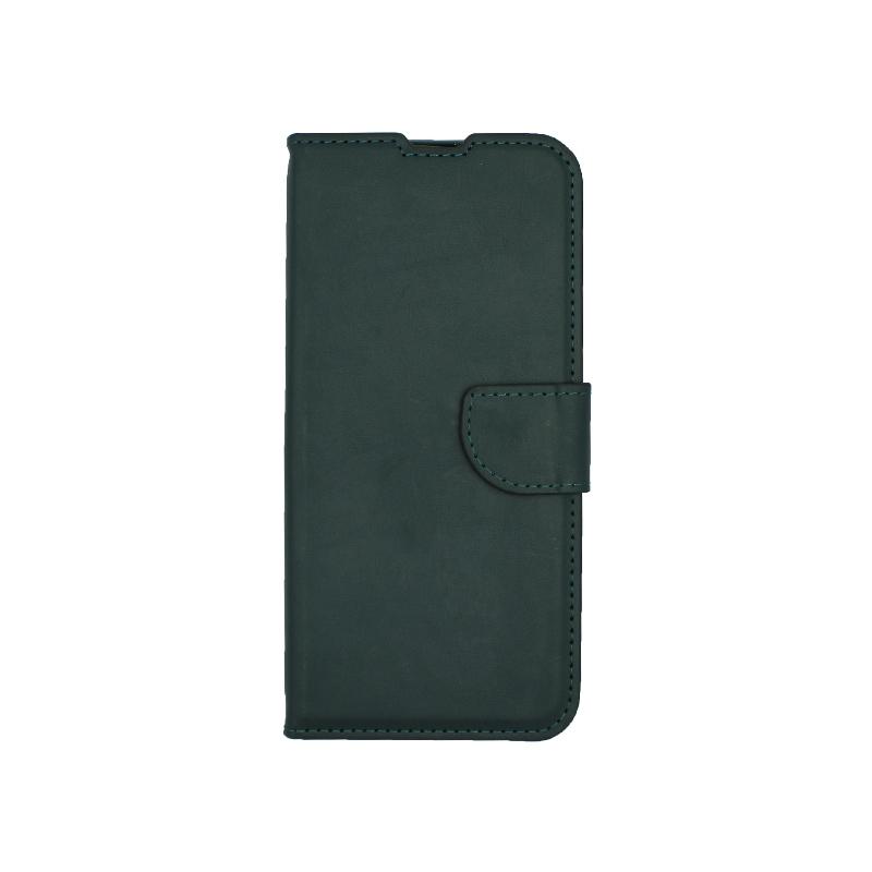 Θήκη Huawei P Smart Pro πορτοφόλι πράσινο 1