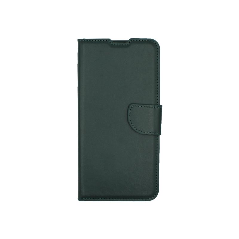 Θήκη Huawei P40 Lite E πορτοφόλι πράσινο 1