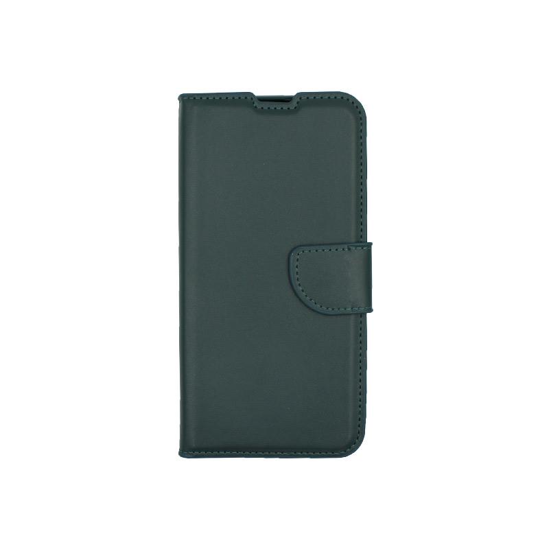 Θήκη Huawei Y6 2019 πορτοφόλι πράσινο 1