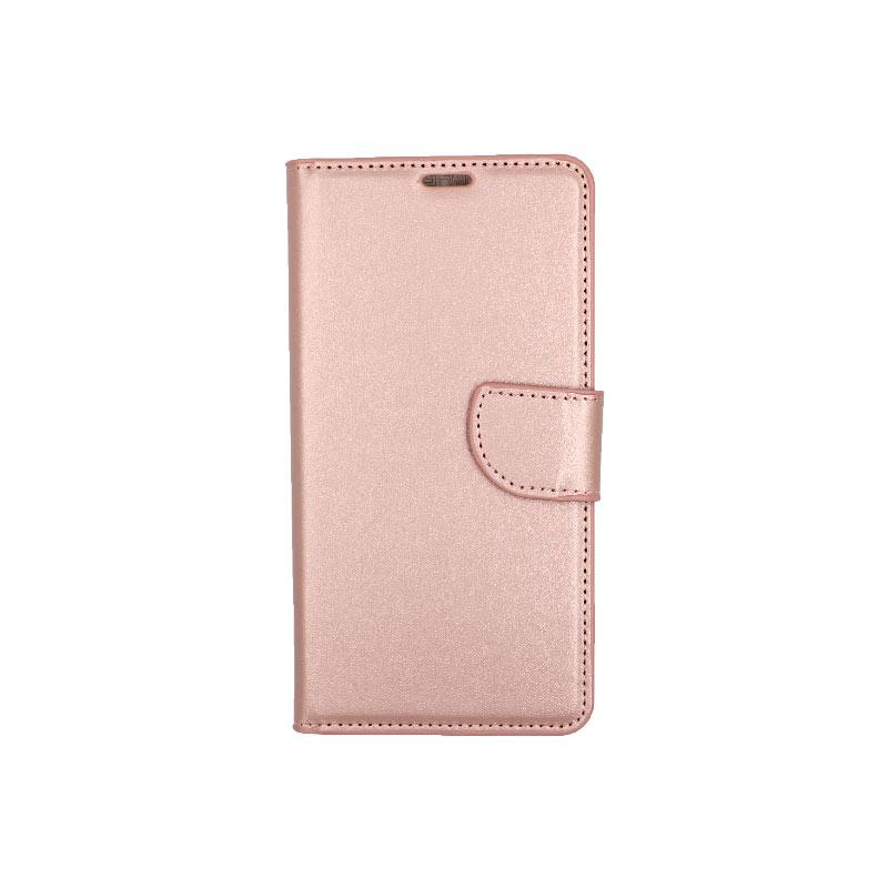 θήκη Xiaomi Mi 8 πορτοφόλι με κράτημα ροζ 1