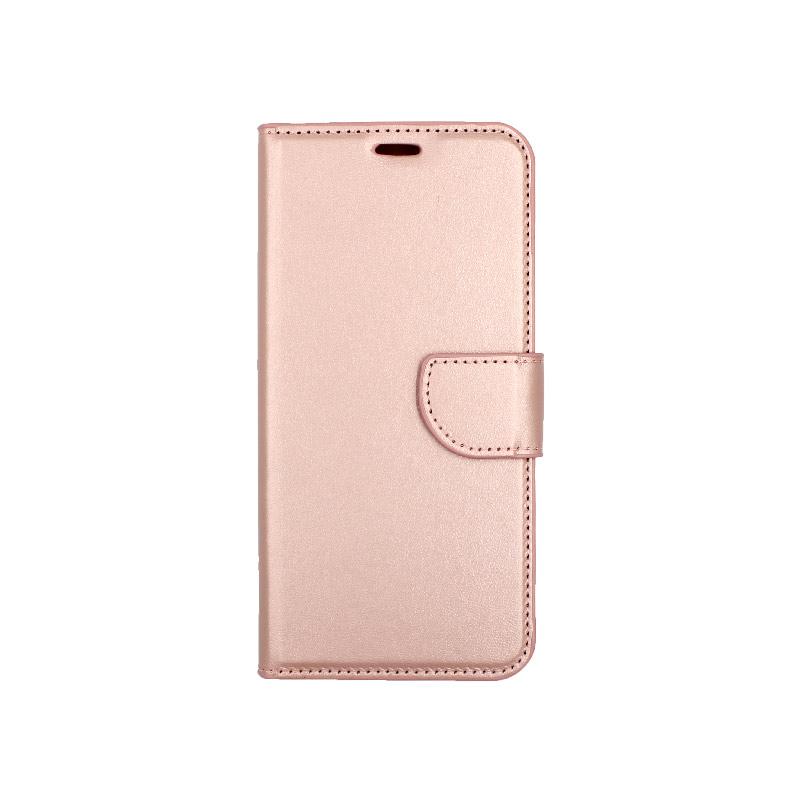 θήκη xiaomi Mi 8 Lite πορτοφόλι με κράτημα ροζ1