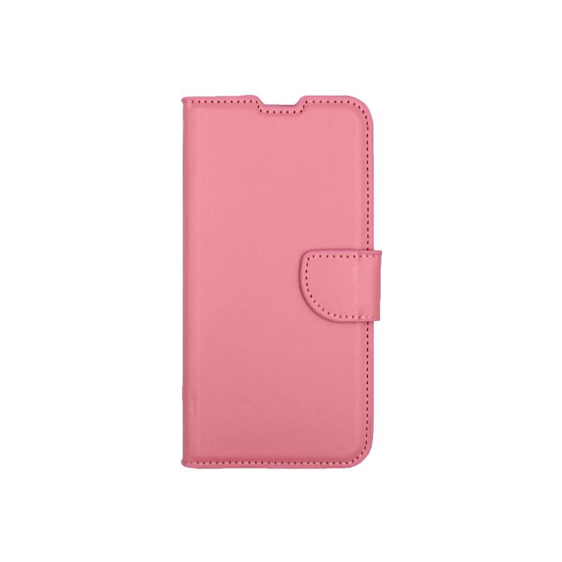 Θήκη Huawei Y6 2019 πορτοφόλι ροζ 1