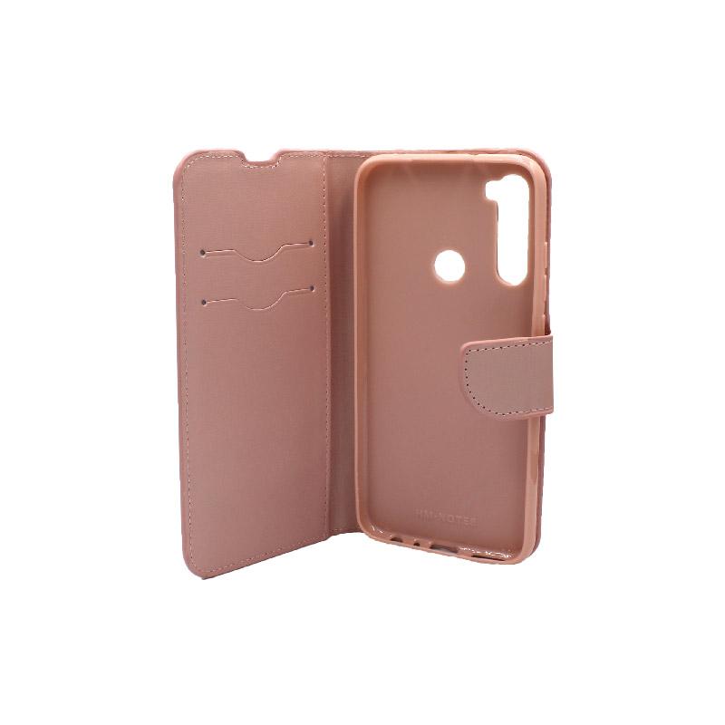 Θήκη Xiaomi Redmi Note 8 πορτοφόλι ροζ 3