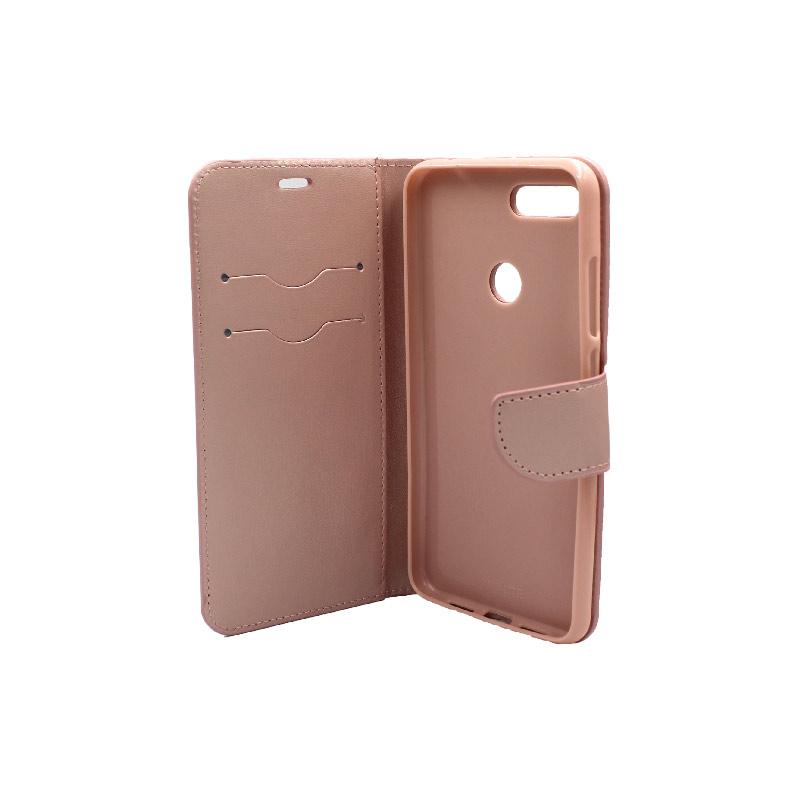 θήκη xiaomi Mi 8 Lite πορτοφόλι με κράτημα ροζ 3