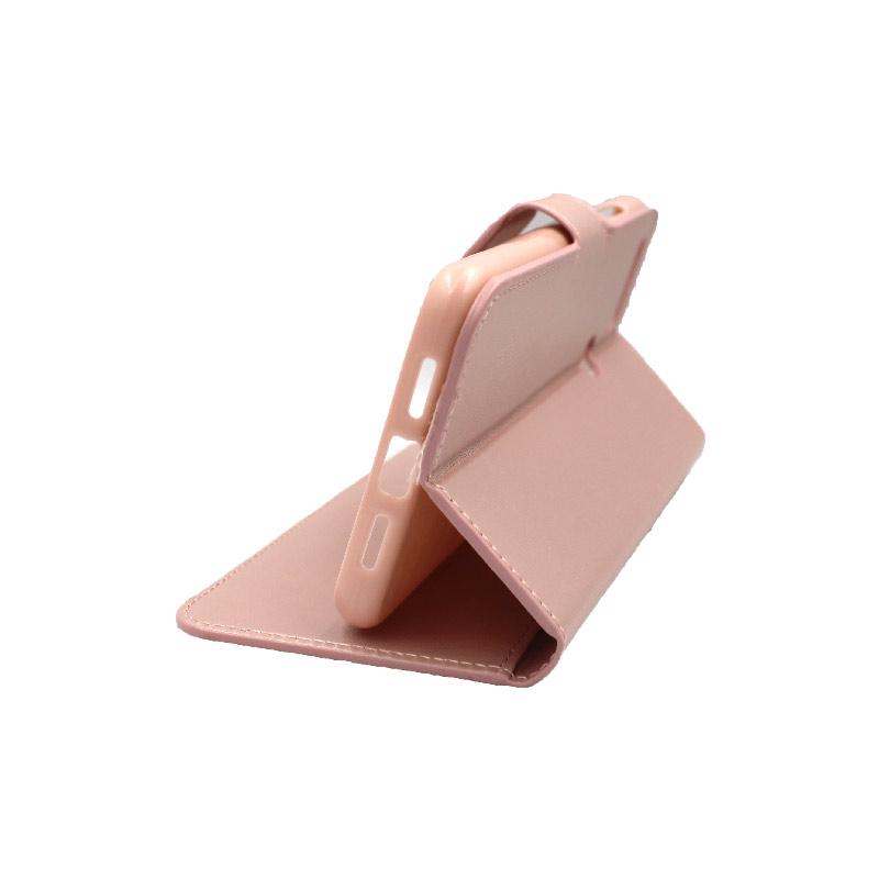 θήκη xiaomi Mi 8 Lite πορτοφόλι με κράτημα ροζ 4