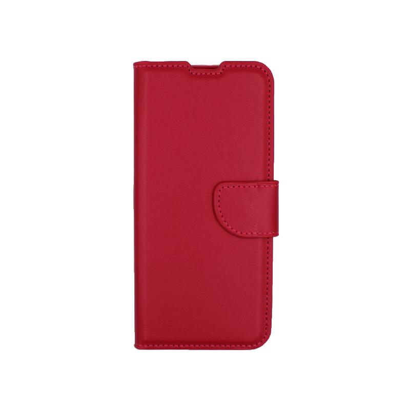 Θήκη Samsung Galaxy S20 πορτοφόλι σκούρο κόκκινο 1