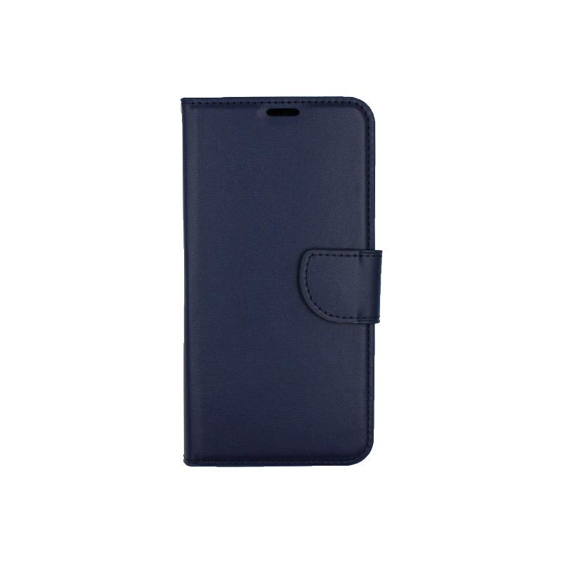 Θήκη Xiaomi Redmi Note 6 Pro πορτοφόλι σκούρο μπλε 1
