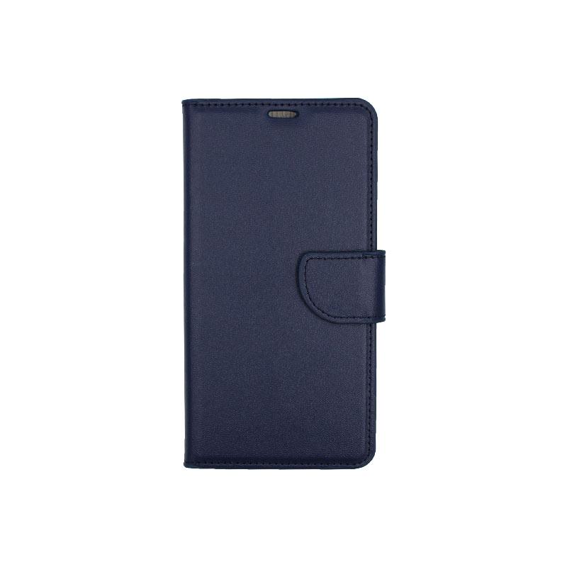 θήκη Xiaomi Mi 8 πορτοφόλι με κράτημα σκούρο μπλε 1