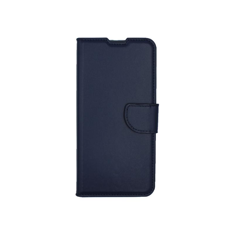 Θήκη Huawei P40 Lite E πορτοφόλι μπλε 1