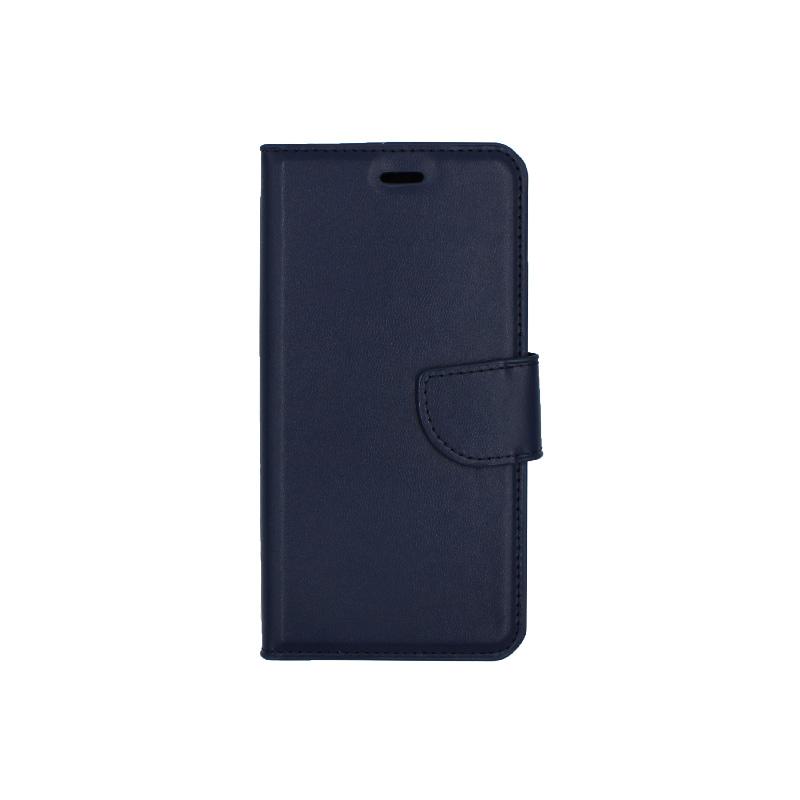 Θήκη Huawei P10 Lite πορτοφόλι σκούρο μπλε 1