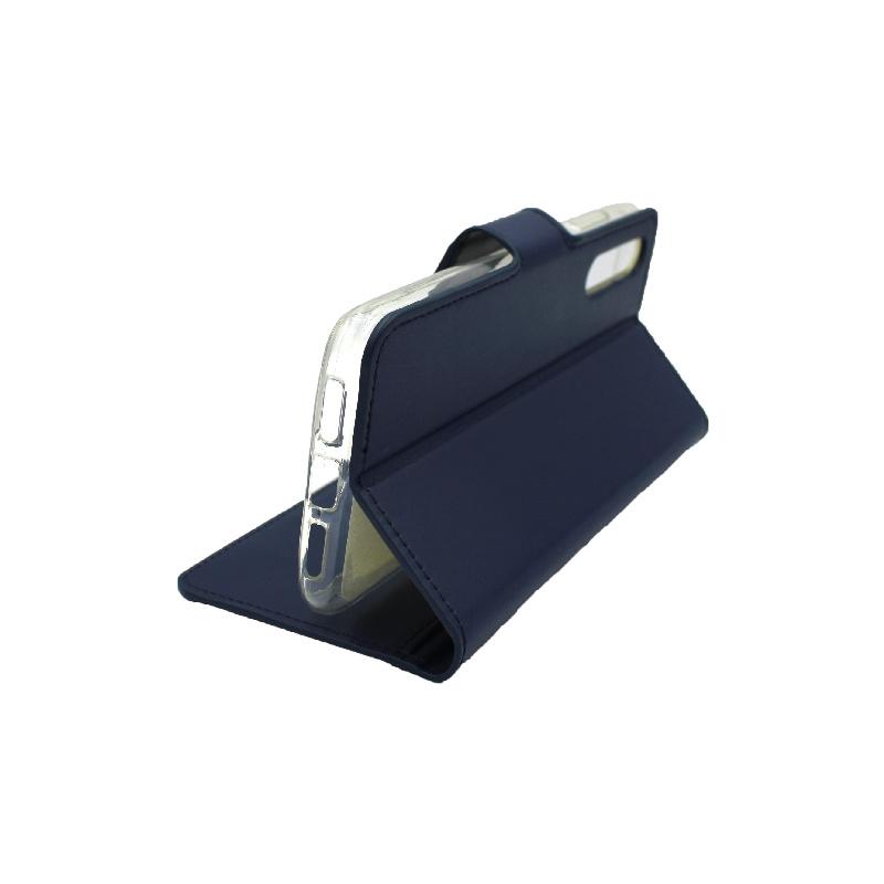 Θήκη Huawei P20 Pro πορτοφόλι μπλε 4
