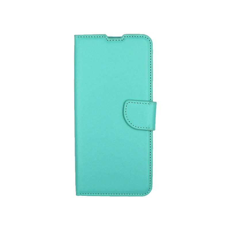 Θήκη Xiaomi Redmi Note 9S / Note 9 Pro / Max πορτοφόλι τιρκουάζ 1