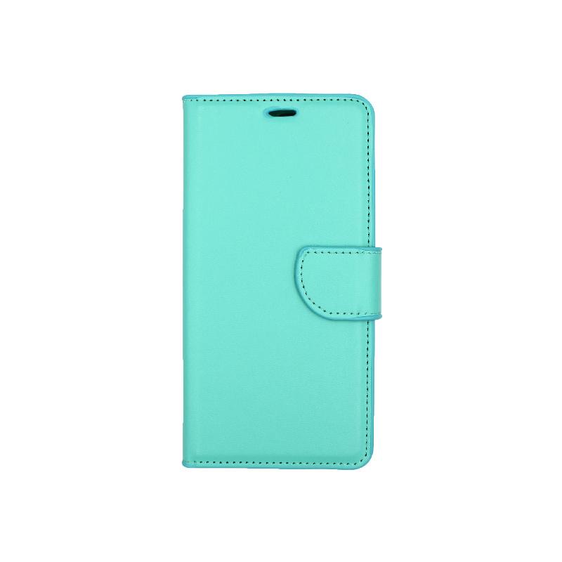Θήκη Huawei Y6 2018 πορτοφόλι τιρκουάζ 1
