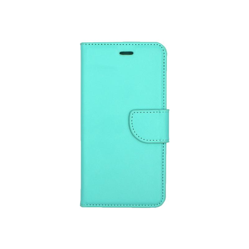 Θήκη Huawei P10 Lite πορτοφόλι τιρκουάζ 1