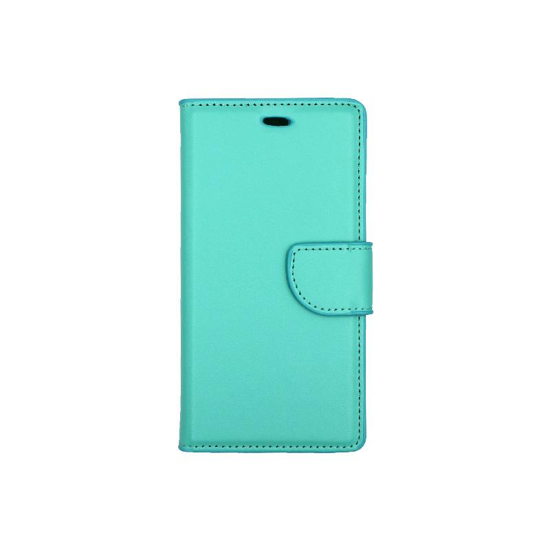 Θήκη Huawei P8 Lite πορτοφόλι τιρκουάζ 1