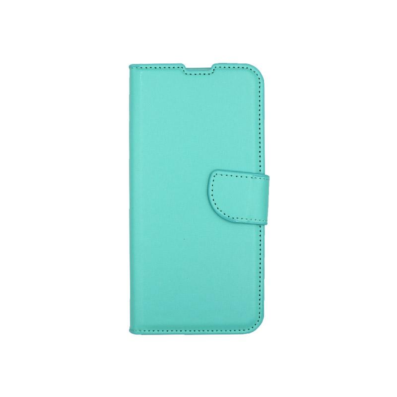 Θήκη Xiaomi Redmi Note 8 πορτοφόλι τιρκουάζ 1