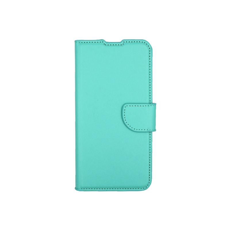 Θήκη Xiaomi Redmi 7 πορτοφόλΘήκη Xiaomi Redmi 7 πορτοφόλι τιρκουάζ 1
