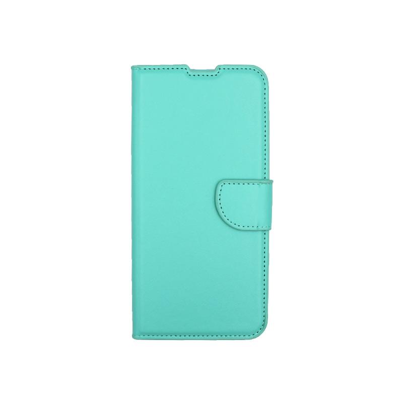 Θήκη Xiaomi Redmi Note 9 πορτοφόλι τιρκουάζ 1