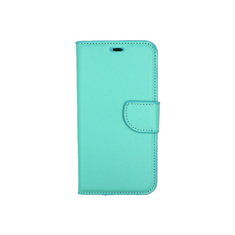 Θήκη Xiaomi Redmi 6 πορτοφόλι τιρκουάζ 1