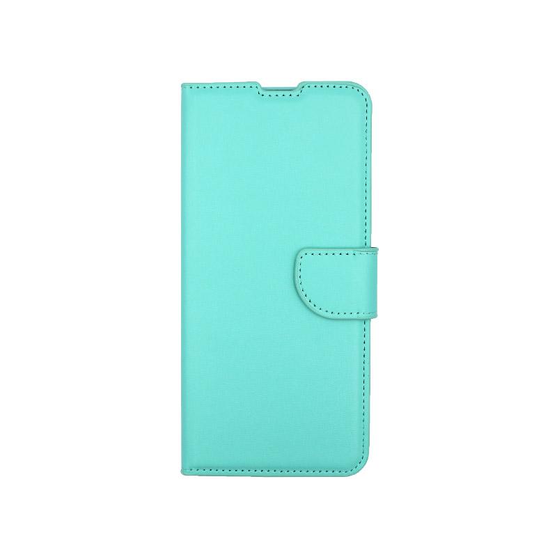 θήκη Xiaomi K30- K30 5G πορτοφόλι με κράτημα τιρκουάζ 1