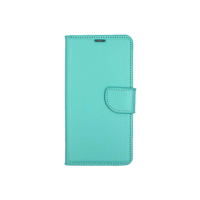 θήκη Xiaomi Mi 8 πορτοφόλι με κράτημα τιρκουάζ 1