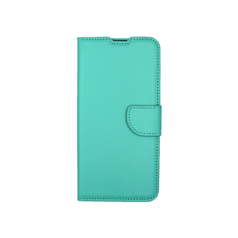 Θήκη Huawei P40 Lite E πορτοφόλι τιρκουάζ 1