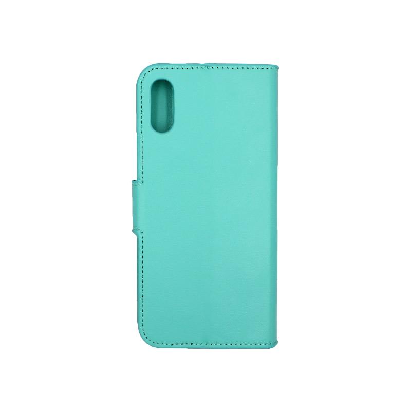 Θήκη Huawei Y6 2019 πορτοφόλι τιρκουάζ 2