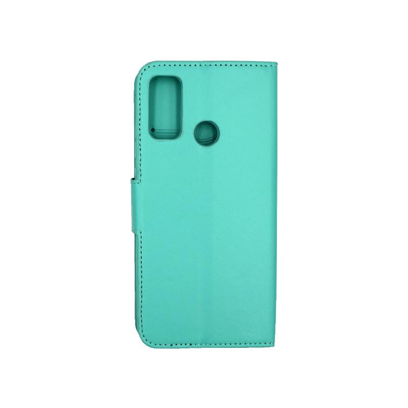 Θήκη Huawei P Smart 2020 πορτοφόλι τιρκουάζ 2