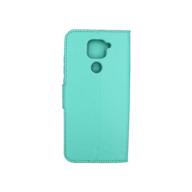 Θήκη Xiaomi Redmi Note 9 πορτοφόλι τιρκουάζ 2