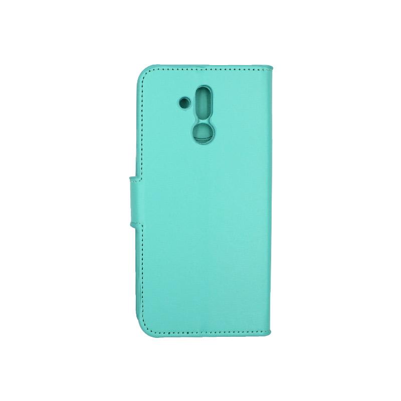Θήκη Huawei Mate 20 Lite πορτοφόλι τιρκουάζ 2