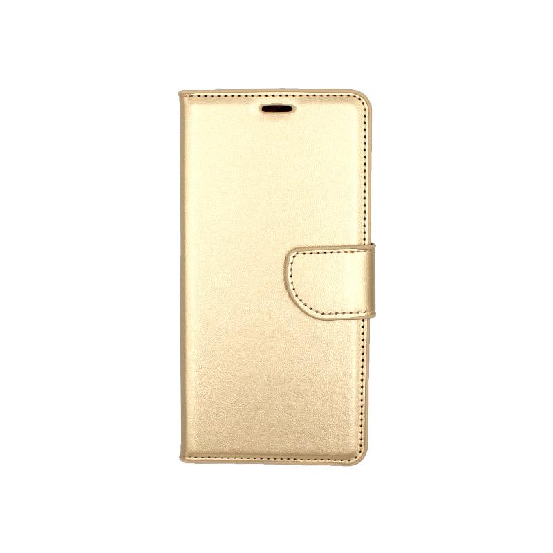 Θήκη Huawei Y6 2018 πορτοφόλι χρυσό 1