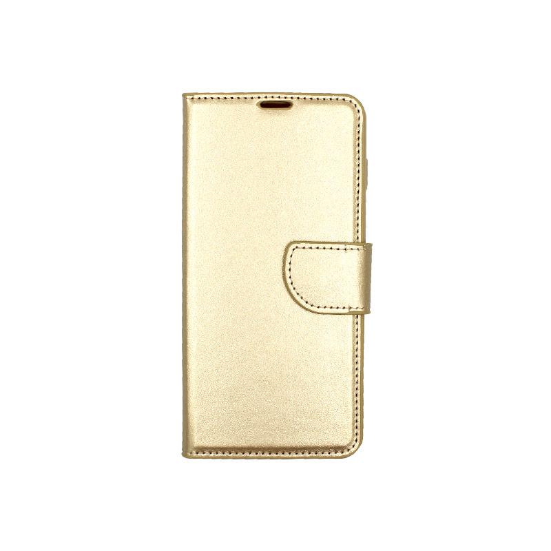 Θήκη Samsung Galaxy S10 Plus πορτοφόλι χρυσό 1